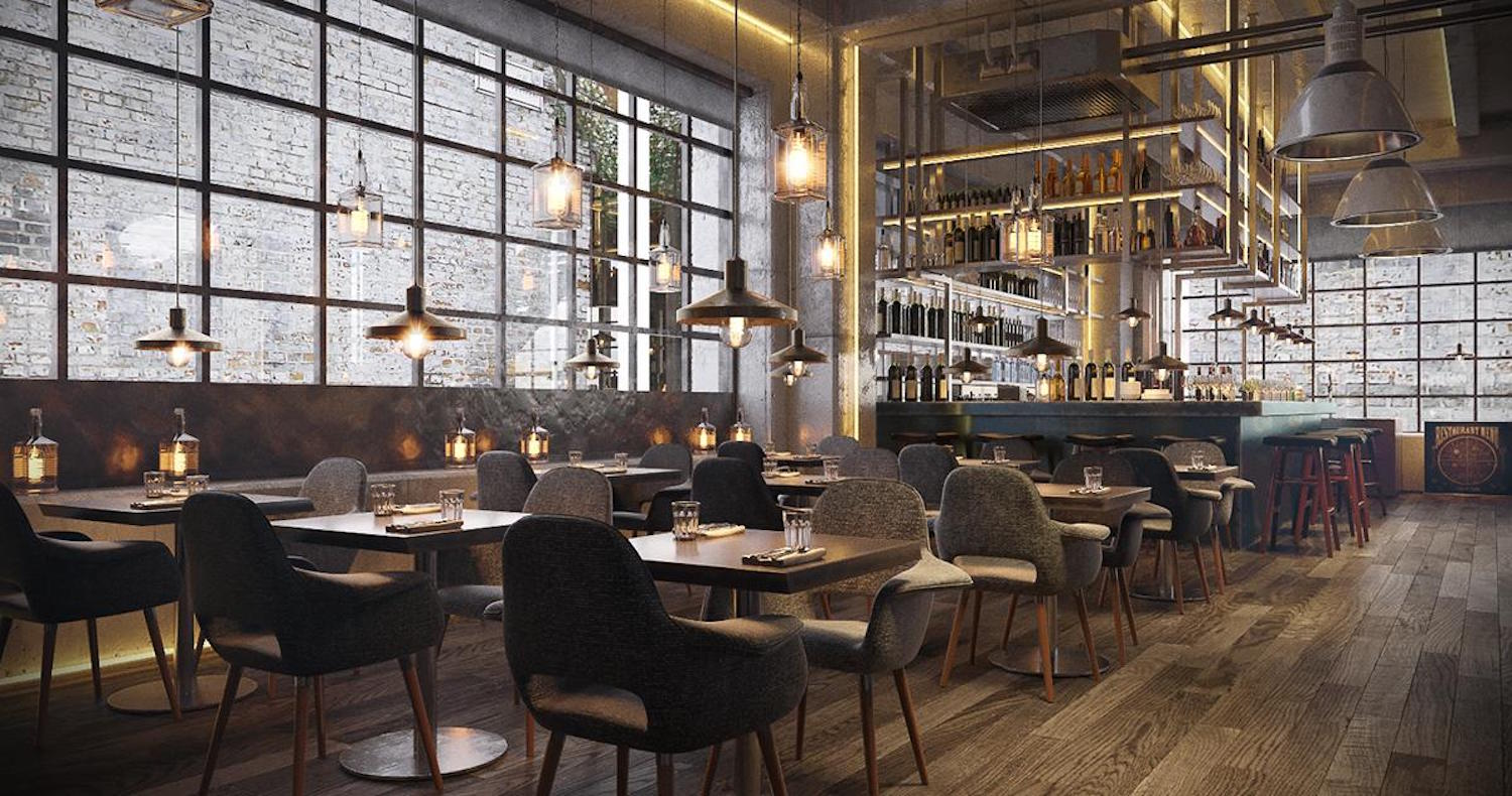 From Empty Warehouse To Warm Industrial Bar And Restaurant