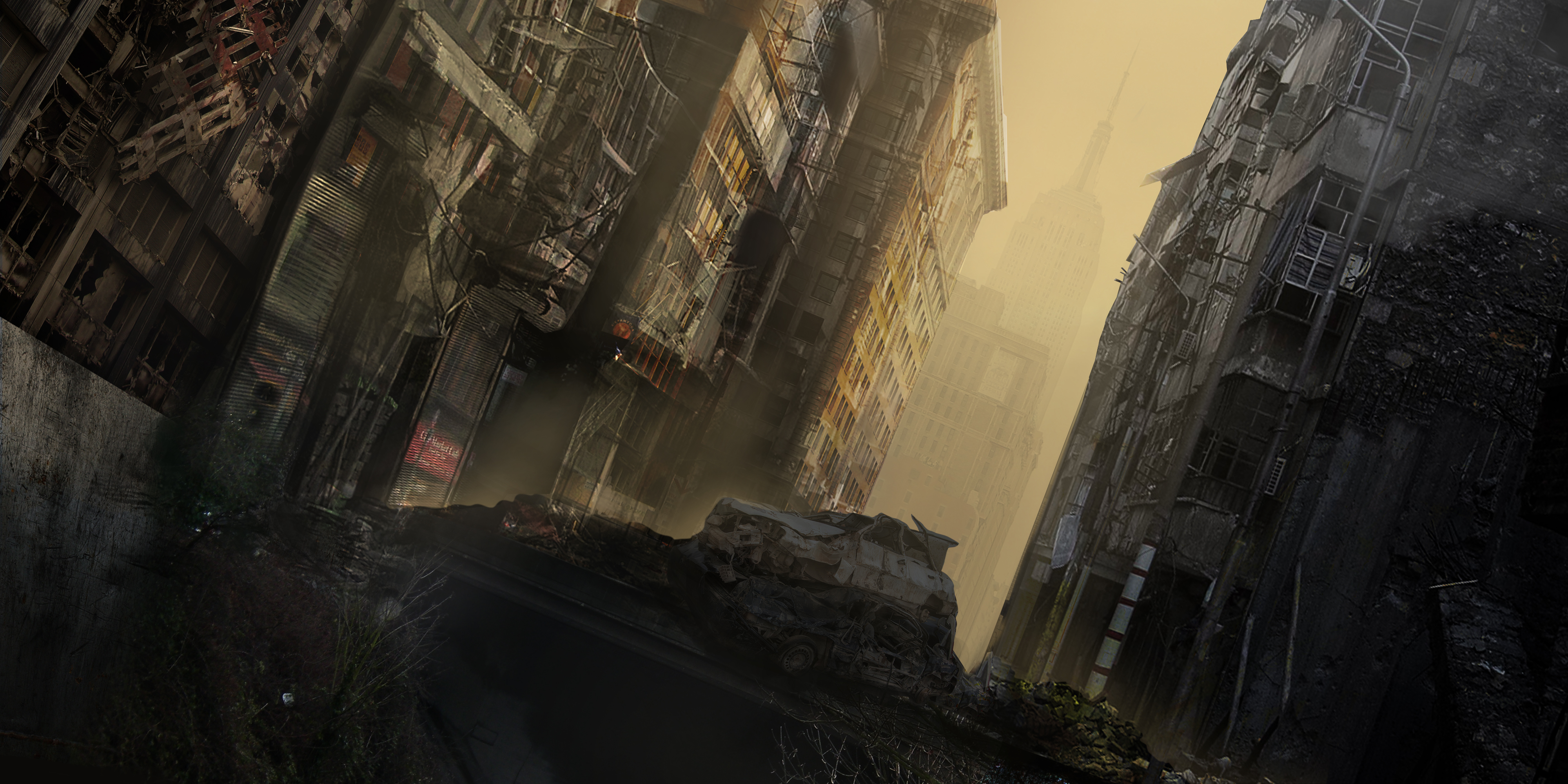 Apocalyptic city step 4