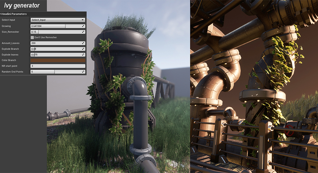 Creating procedural tools for Unreal Engine 4 with Houdini