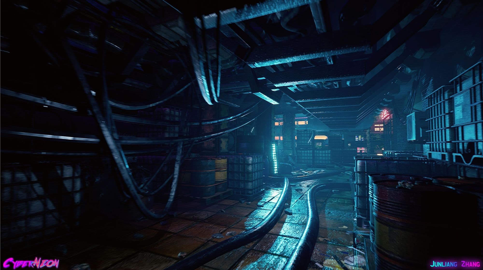 Creating a Chinese CyberNeon Game Environment In UE4 | The