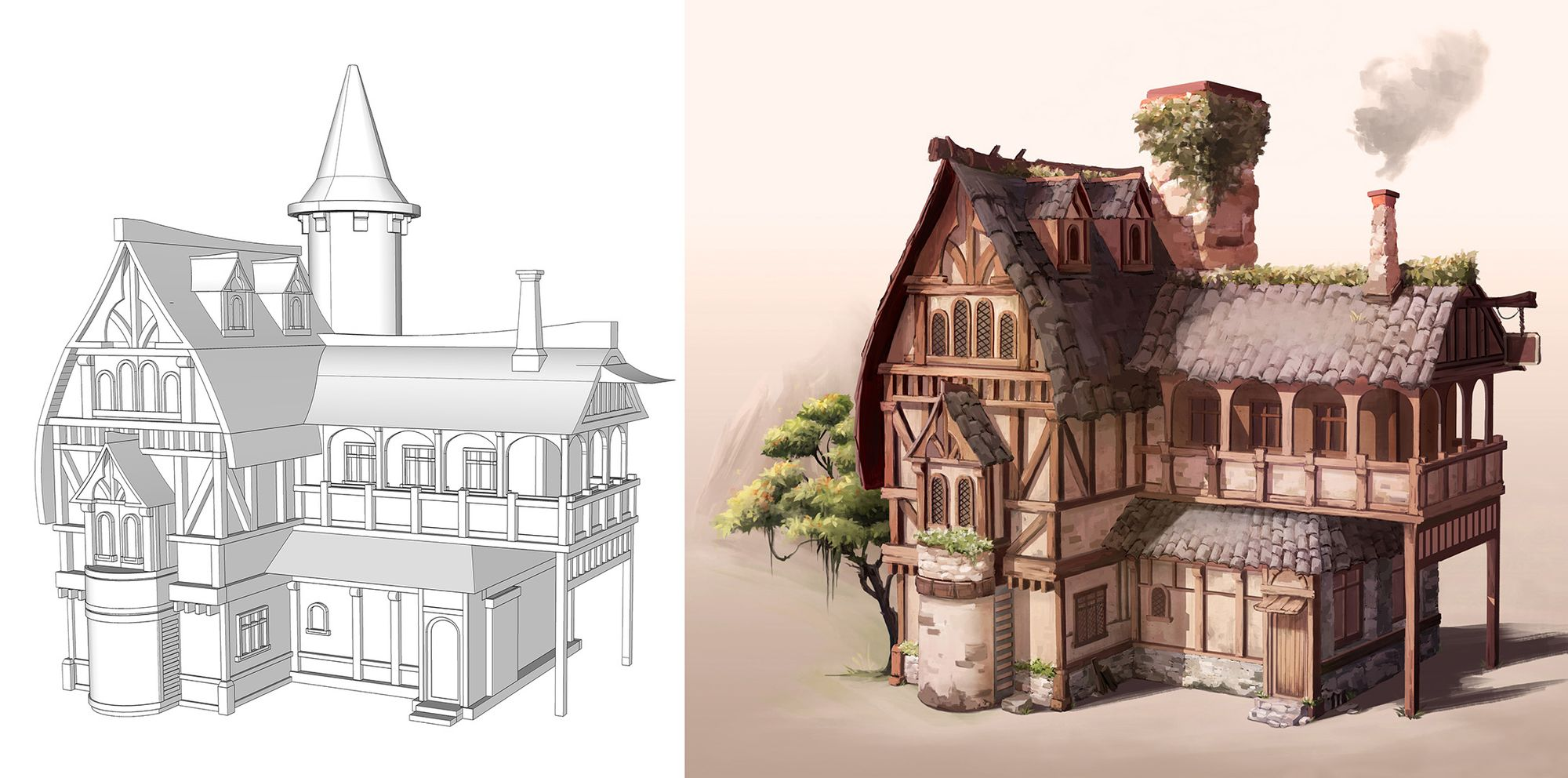 How SketchUp and a Good Brief can Enhance your Concept Art