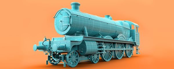 3d Modelling and Rendering the Hogwarts Express