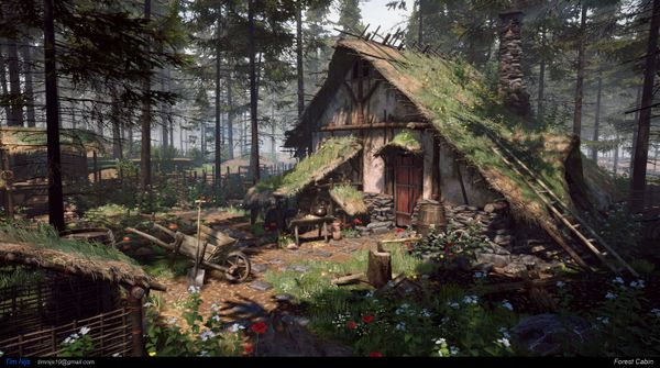 How to Create a Forest Cabin Scene in UE4