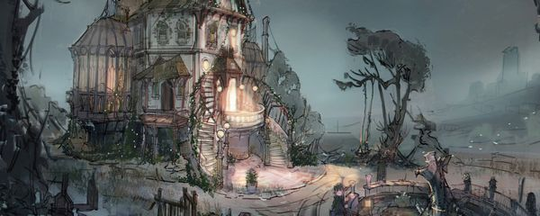 How to Concept Art a Haunted House